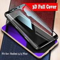 9H 3D Full Cover Tempered Glass Screen Protector For Xiaomi Redmi 5 Plus Note 5A