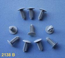 (2138 B/ 78A) 10x Verkleidung Clips Befestigung Klips Halter Universal h grau