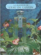 ▬► PUBLICITE ADVERTISING AD Parfum Perfume LANVIN eau de Lanvin 1952