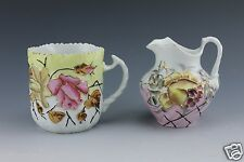Rare Early RS Prussia Mustache Cup and Creamer