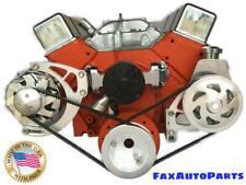 Small Block Chevy V Belt Kit Electric Water Pump Sbc Ewp Lwp 283 327 350 400 1