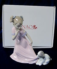 NAO BY LLADRO LET ME GO! (SPECIAL ED) BRAND NEW IN BOX PUPPY PINK DRESS #1829