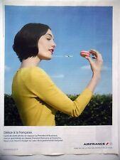 PUBLICITE-ADVERTISING :  AIR FRANCE - Délice 2013 Avions,Macaron,Cie Aérienne