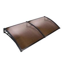 DIY Window Door Awning Cover Brown 100 X 200cm UV Rain Outdoor Sun Shield