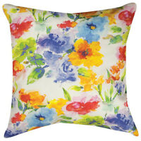 "PILLOWS - ""CHELSEA GARDEN"" INDOOR OUTDOOR PILLOW - 18"" SQUARE - FLORAL DECOR"