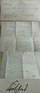 Landrat Friedrich Scribbler: Letter Dieburg 1831, Complain For Abgaben An From