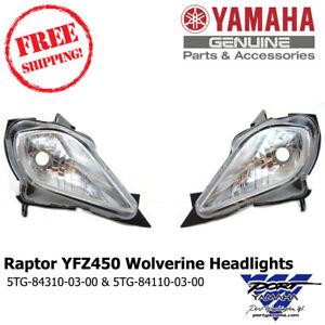 Yamaha Raptor 700, 350, YFZ 450, YFZ450, Wolverine Right / Left Headlight OEM