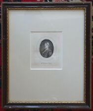JOHN GAY Framed 18th Century Engraving Portrait