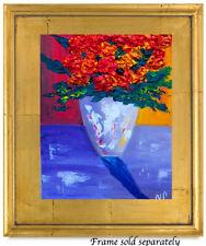 New ListingRed Flowers Natasha Petrosova Original Oil Painting Impressionism 24513