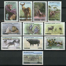 More details for tanzania wild animals stamps 2010 mnh definitives elephants lions zebras 11v set