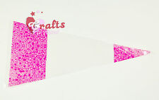 """25 Quality """"Pink"""" Cone Cellophane Sweet   Party Bags   Large 18cm x 37cm"""