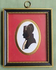 Vintage signed Silhouette Portrait miniature of Napoleon, LINDER