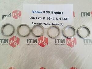 Volvo B30 Exhaust Valve Seat Set of (6) 164S -164E & Volvo Penta AQ165 & AQ170
