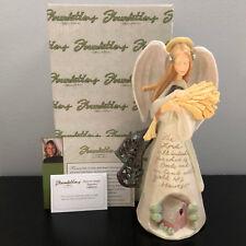 Foundations by Karen Hahn Harvest Angel with Prayer Figurine 2005 Enesco In Box