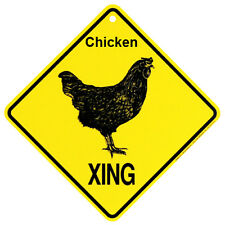 Chicken xing crossing Sign Made in USA by KC Creations