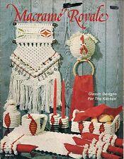 BOOK ONLY #MM271 Macrame Royale - Vintage Classic Kitchen Patterns