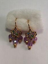 Kirks Folly NWOT Star Beads Leverbank Earrings Gold