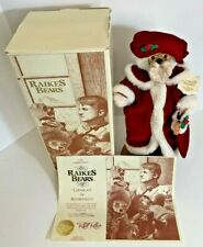 Raikes Bears 1990 Classic Santa Doll With Stand & COA Original Box Vintage