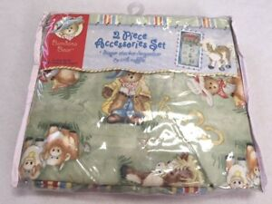 NEW Bandana Bear Diaper Stacker Crib Ruffle Set Cowboy Cowgirl Teddy Horse
