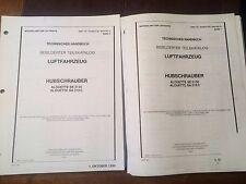 Aerospatiale SUD SE.3130 & SA318C Alouette II German Part Manuals, a 2 Vol. Set