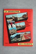 Hergé-Will-Timbre Tintin-Album La géographie de l'Europe 1-édition Lombard-1959