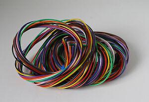 11x 2m Solid core multi coloured equipment wire pack circuit board repair