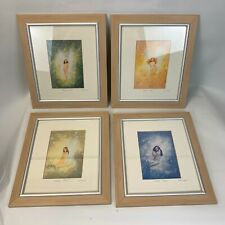 Keith English set of four framed prints fairies seasons great condition mounted