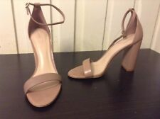 ALDO Pink Strappy Sandal Heels Chunky Heel Womens Shoes Size 8