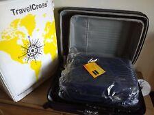 TravelCross Luggage 3 Piece Lightweight Spinner Set- Blue, New- Travel Cross