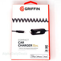 OEM Griffin PowerJolt SE 12W Compact Car Charger Lightning Cable for iPhone iPad