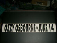 OZZY OSBOURNE 1990's RARE RECORD STORE COMING SOON RELEASES WALL PROMO STICKER