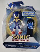 "Sonic The Hedgehog SONIC with Snowboard 4"" Articulation Figure Jakks Go Sega NIB"