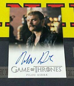Game of Thrones Season 7 Pilou Asbaek as Euron Greyjoy Full Bleed Autograph