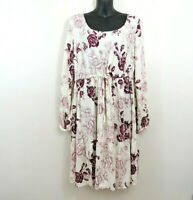 Torrid Size 0 Large Long Sleeve Floral Print Tiered Challis Dress