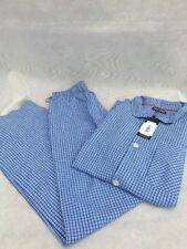 Tommy Hilfiger Men's ROBIN woven pyjamas set blue/white  checkered  M