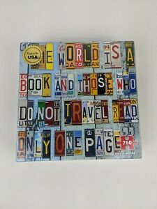 Remarks License Plates 750 Piece Puzzle New Sealed Unique States Geography