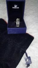 Genuine Swarovski Cristal argent anneau en Boîte Taille L-M