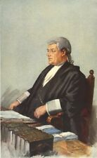 "VANITY FAIR SPY Cartoon. GIUSTIZIA Eve ""un buon giudice' . diritto. per APE JUNIOR. 1911"