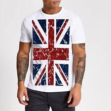 Union Jack T Shirt, Great Britain Flag, U.K.United Kingdom, UK Flag, %100 Cotton