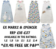 BABY SLEEPING BAG EX MARKS & SPENCER BOYS GIRLS COTTON 0-36M TOG 1.2 - 2.4 NEW