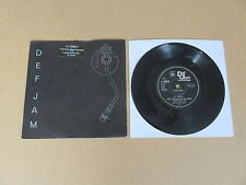 """LL COOL J I Can't Live Without My Radio DEF JAM 7"""" RARE 1985 UK 1ST PRESSING"""