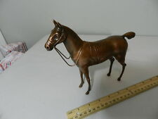 VINTAGE RACING HORSE FIGURINE- WEIDLICH BROS. BRONZE HORSE STATUE- HORSE RACING