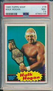 1985 Topps HULK HOGAN Rookie #16 - PSA 7.5 NM-MT Wresting Rare Pop 1 New Case