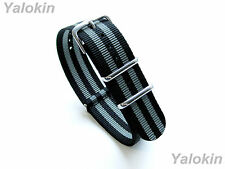 24mm- Modern Nylon Strap Band for Luxury, Sports, and Casual Watches (NYL-BGRY)
