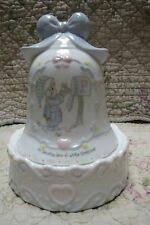 Precious Moments Bell Shaped Musical on stand Sending You A White Christmas