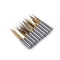 10x 1.7mm Nitride Coated Carbide Titanium PCB Dremel CNC Drill Bits Router