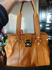 Large British Tan Dbl Strap Shoulder Bag Purse Tote Shopper Gold Hardware NWOT!