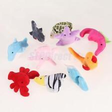 10 Cute Velvet Sea Animals Finger Puppets Set dolphin turtle starfish Shark more