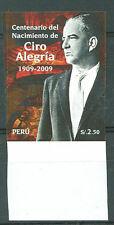 PERU 2009 CIRO ALEGRIA Imperforate Mint NH VF
