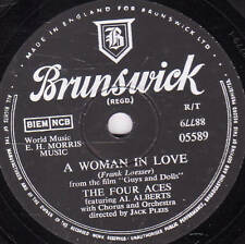 Classique Quatre Aces 78 A WOMAN IN LOVE/I ONLY KNOW I Love You BRUNSWICK 05589 E -